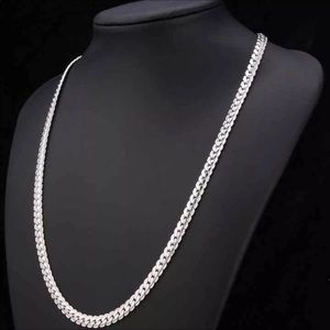 """22"""" unisex 18K Real white gold plated necklace"""